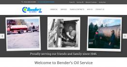 Bender's Oil Service website