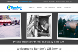 Bender's Oil Service Web Site