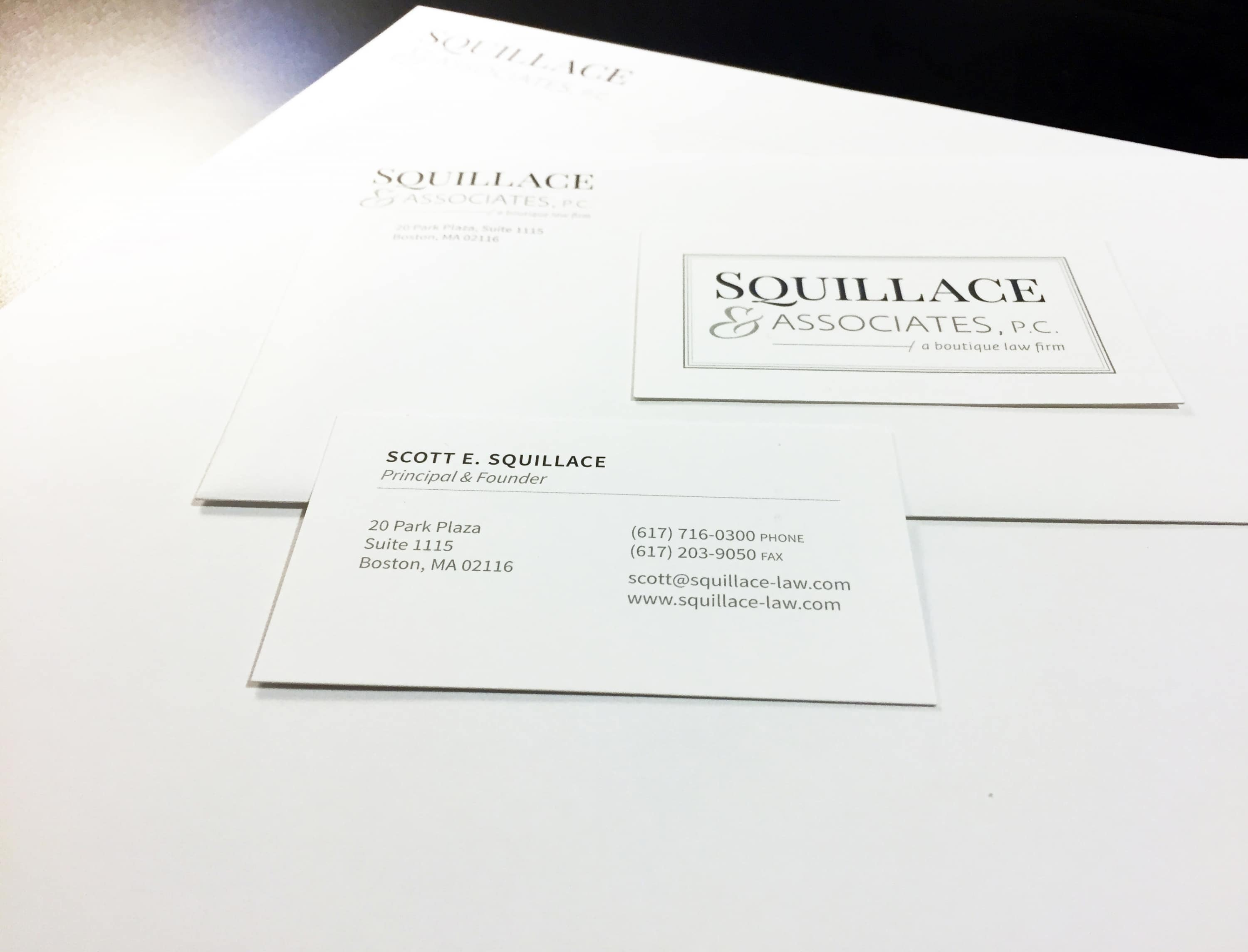 Squillace & Associates, P.C. stationery