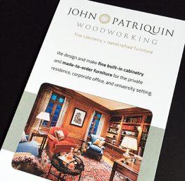 Patriquin Woodworking rack card