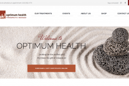 Optimum Health Therapeutic Massage web site
