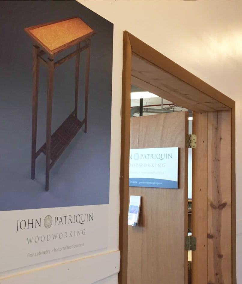 Patriquin Woodworking signage card