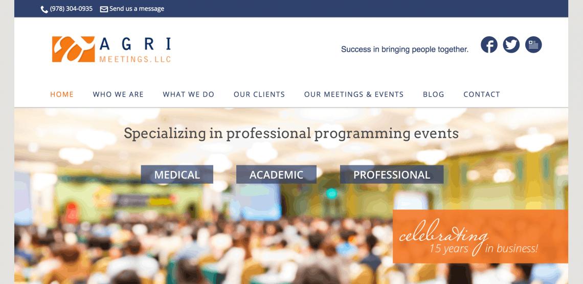 Agri Meetings website
