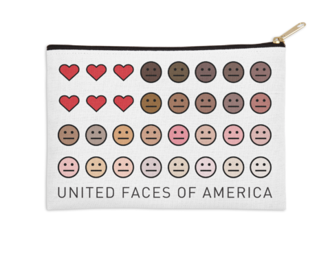 United Faces of America© zip pouch